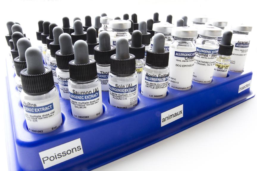 Quels sont les tests d'allergie ou autres qui sont compris dans le montant de la consultation en allergie?