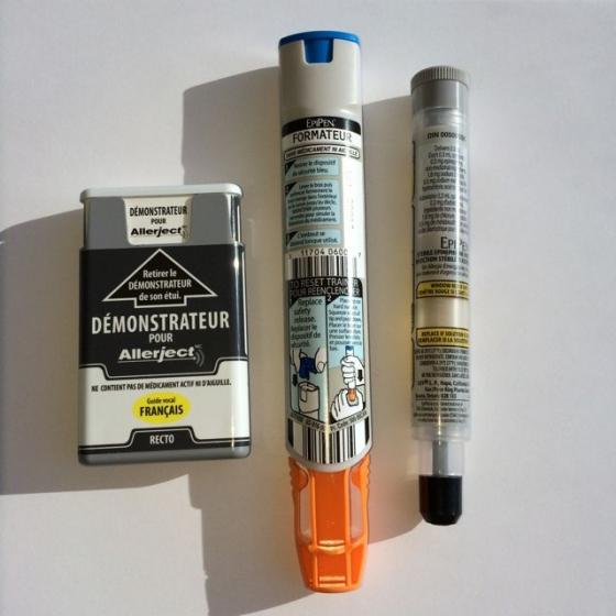 Auto-injecteur d'épinéphrine: on change à notre fête!