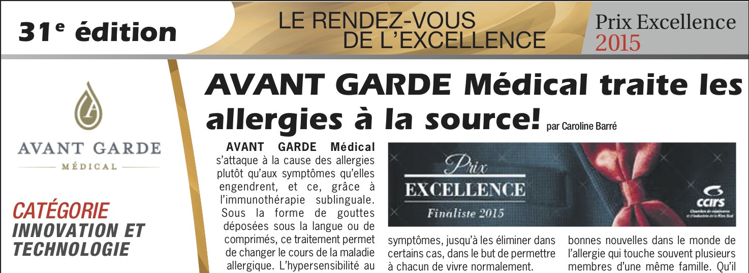 avantgarde medical Article sur AVANT GARDE Médical dans le journal L'Information d'affaires Rive-Sud